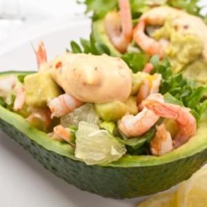 Салат Пикантный авокадо с креветками