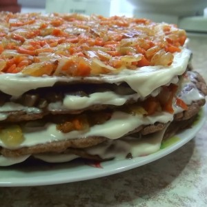 Печеночный тортик - вкусная идея для стола