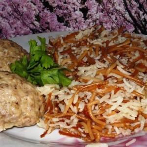 Рис с жареными макаронами по турецки