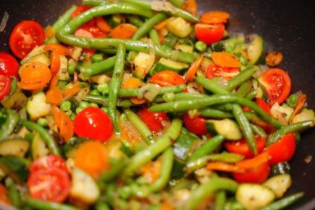 Диетическое блюдо. Тушеные овощи