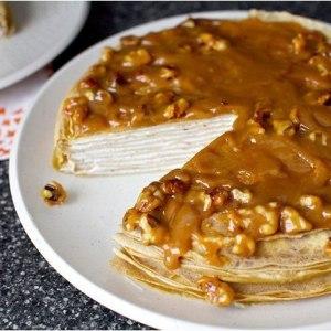 Блинный торт с карамелью