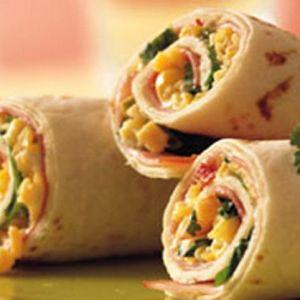 Тортилья-ролл с ветчиной и сыром