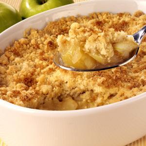 Яблочный крамбл - Пирог из овсянки
