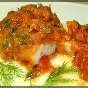 маринованная рыба под томатным соусом с