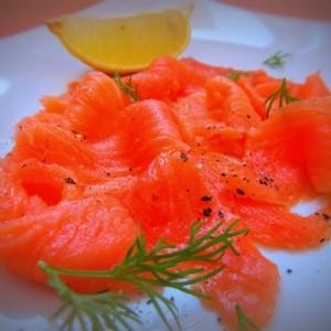 Слабосолёный лосось по-шведски