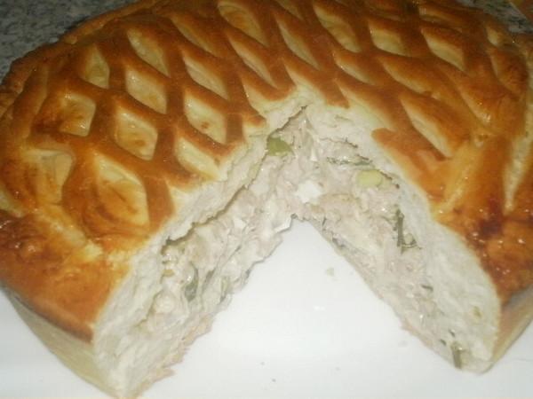 Тесто на пирог с курицей из кефира с
